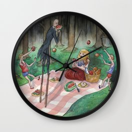 Slender Family Picnic Wall Clock
