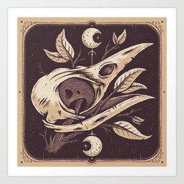 Tarot Crow Art Print