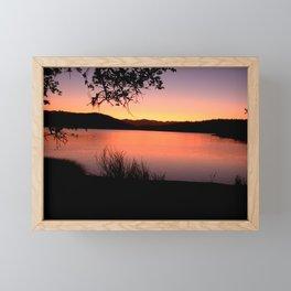 LAKE HENNESSEY - NAPA CALIFORNIA - SUNSET REFLECTION Framed Mini Art Print