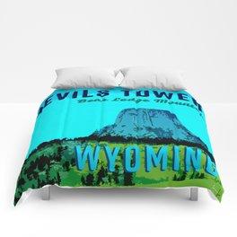 Devils Tower Wyoming Comforters