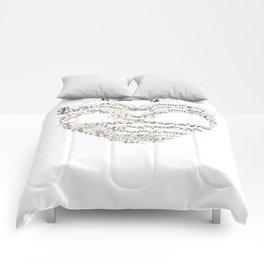Chanson L'Amour Vintage Romance Comforters