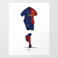 Barcelona 2008/09 - Champions League Winners Art Print