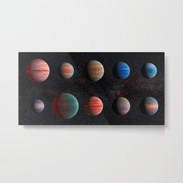 Planets : Hot Jupiter Exoplanets Metal Print