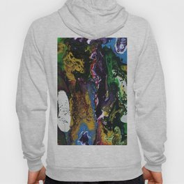 Searching For Gold - Original, abstract, fluid, acrylic painting Hoody