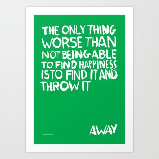 ...Away (Vers. 2) Art Print
