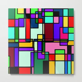 abstract boxes Metal Print