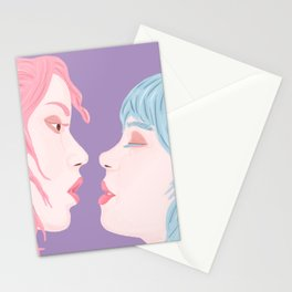 Pride Love is Love Women Kiss Stationery Cards