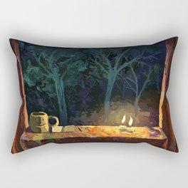 Treefort contemplation Rectangular Pillow