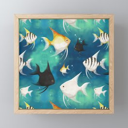 Angelfish Pattern Framed Mini Art Print