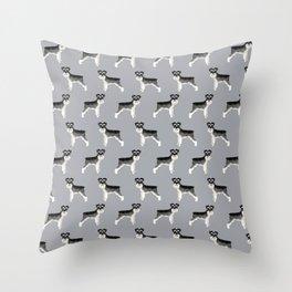 Schnauzer minimal basic dog art pattern design perfect gifts for schnauzers dog breed Throw Pillow