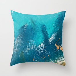 Ocean in Abstract Throw Pillow
