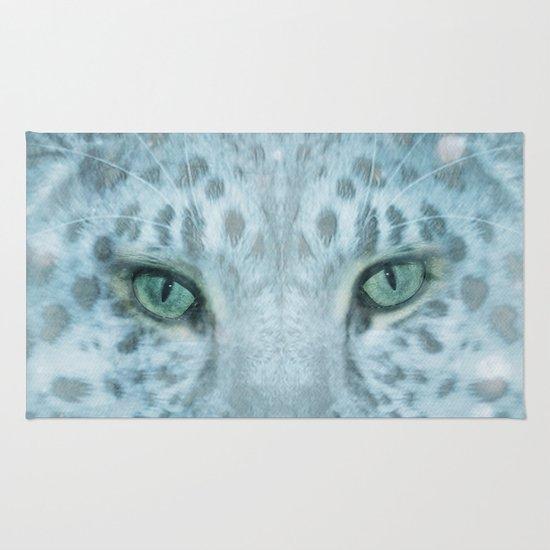 Snow Leopard day Rug