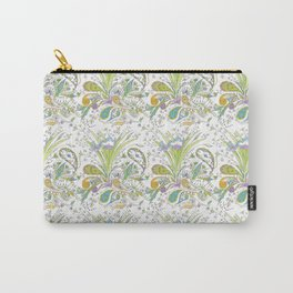 Whimsical Paisley Iris Carry-All Pouch
