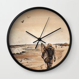 Coffee Art- Surf Wall Clock