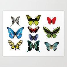 Une armée de papillons Art Print