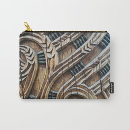 A Maori Carving Carry-All Pouch