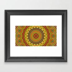 Trippy mandala  Framed Art Print