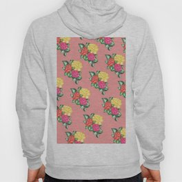 floralpink pattern Hoody