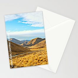 Lindis Pass in Summer, Central Otago, South Island, New Zealand Stationery Cards