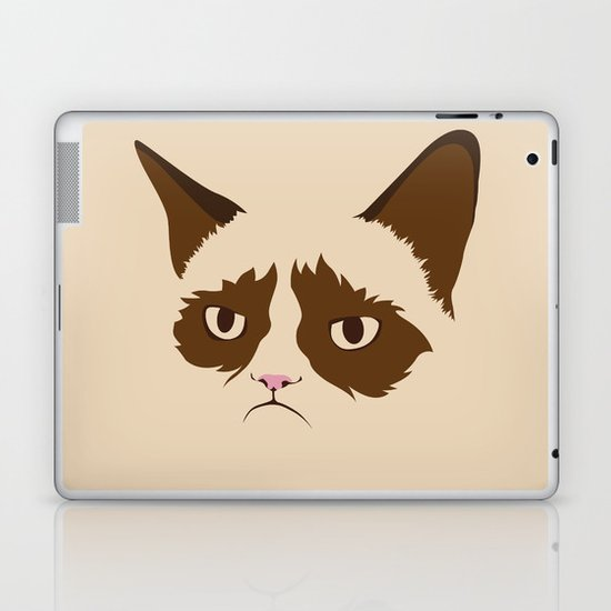 Grumpy Cat, Minimalist in Four Colors Laptop & iPad Skin