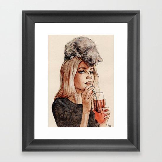 Addicted to Love Framed Art Print