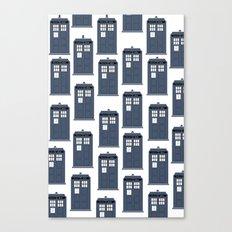 Doctor WHO Tardis Pattern Canvas Print