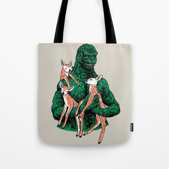 Fawns Meet Kaiju Tote Bag