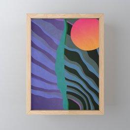 Crepuscular Streams Framed Mini Art Print