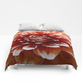 Cognac-Colored Dahlia Comforters
