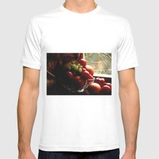 Fruit of the Moors  MEDIUM White Mens Fitted Tee