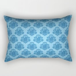 Blue Tardis Pattern Rectangular Pillow
