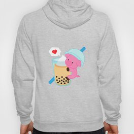 Pig with Yellow Bubble Tea Hoody