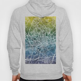 Frankfurt Germany City Map Hoody