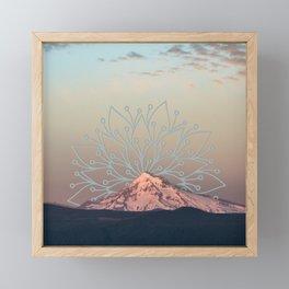 Mountain Mandala Framed Mini Art Print