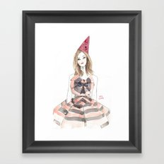 Christian Lacroix for Schiaparelli Fashion Illustration Framed Art Print