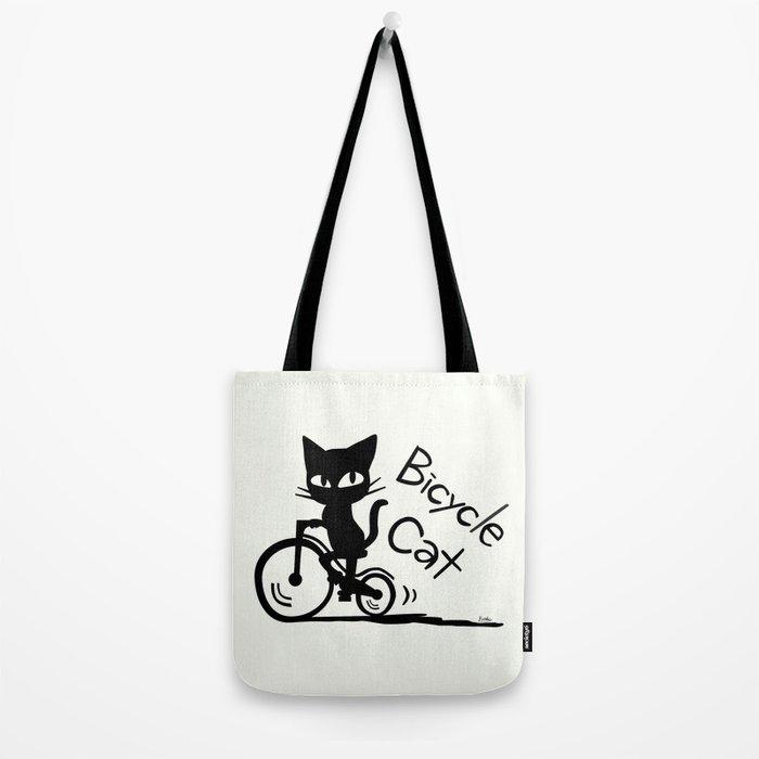 Bicycle Cat Tote Bag