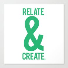Relate & Create (Green) Canvas Print