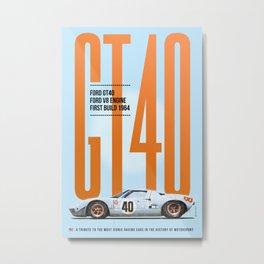 GT40 Gulf Tribute Metal Print