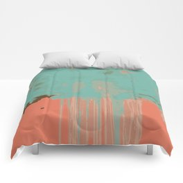 Infinity abstract art print pink turqoise Comforters