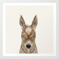 little donkey brown Art Print