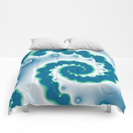 blue and geen fractal Comforters