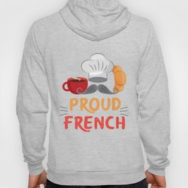 France Proud French Coffee Croissant Hoody