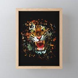 Tiger Roar Splatter Framed Mini Art Print