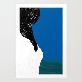 she is the sea Art Print