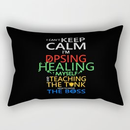 World Of I Can't Keep Calm I'm DPSing Rectangular Pillow