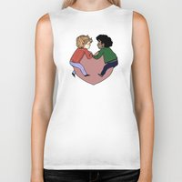 grantaire Biker Tanks featuring Enjolras and Grantaire in love by Antisepticbandaid