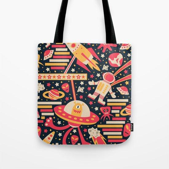 Alien Patterns Tote Bag