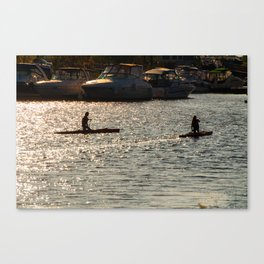 Paddle your own canoe Canvas Print