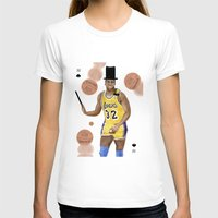 allyson johnson T-shirts featuring Magic(ian) Johnson by Dano77