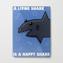 Happy Shark Metal Print